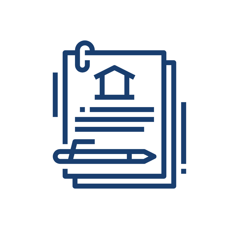 Home lending documents icon